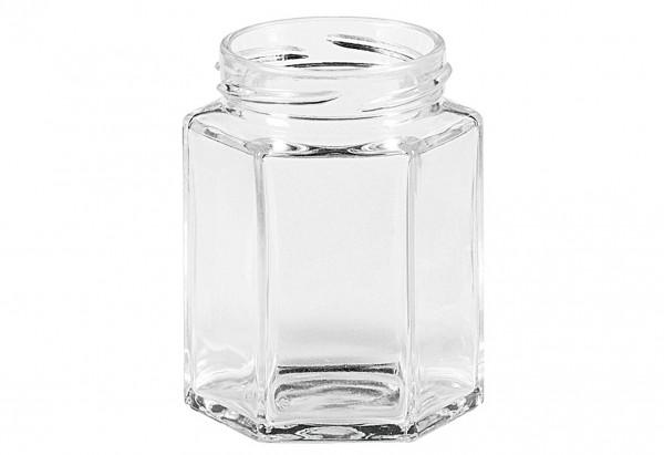Schraubdeckelglas 6-eckig 110 ml ohne Deckel 48mm TO