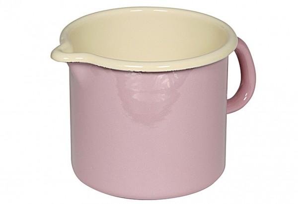 Milchtopf 1 l Ø12cm rosa/bunt