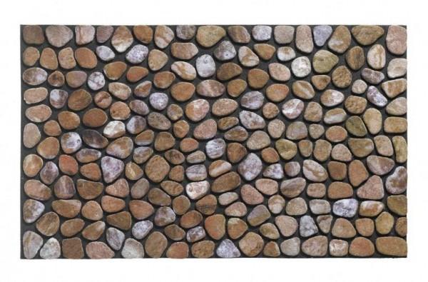 Gummiflockmatte Masterpiece Pebble Beach 46x76cm beige