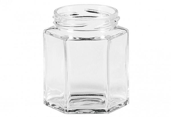 Schraubdeckelglas 6-eckig 47 ml ohne Deckel 43mm TO