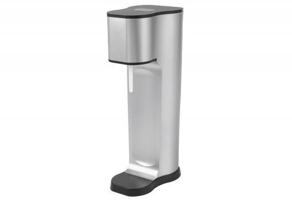 Wassersprudler Joy 2 Glaskaraffen 850ml mit Bottle Shirt CO2-Zylinder silver