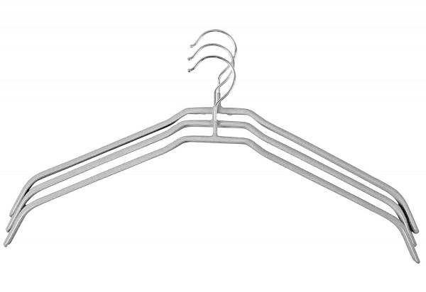Hemdenbügel Metall grau 3Stück