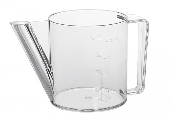 Fett-Trenn-Kanne Skala 1 L transparent