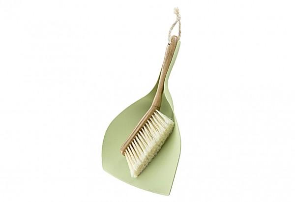 Kehrgarnitur Bamboo rund mit Bastkordel