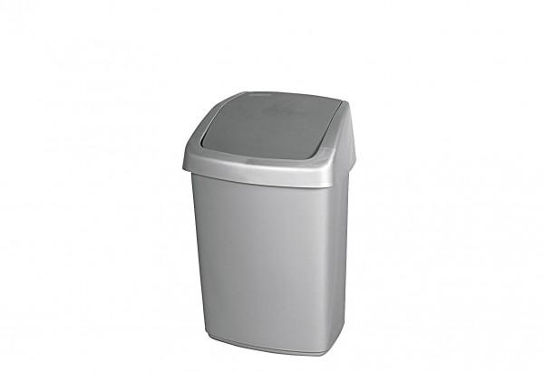 Abfallbehälter Swing-Top mit Schwingdeckel 25 l silber / anthrazit