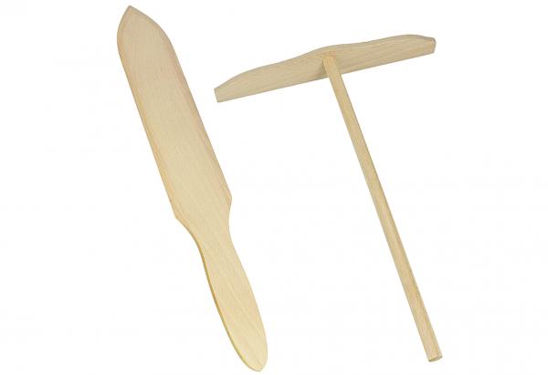 Crêpes Spachtel-Set Holz