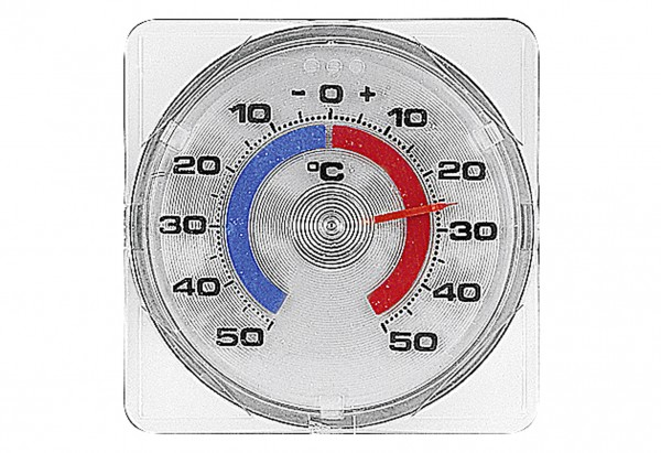 Fenster-Thermometer zum Schrauben und Kleben 7,5x7,5cm