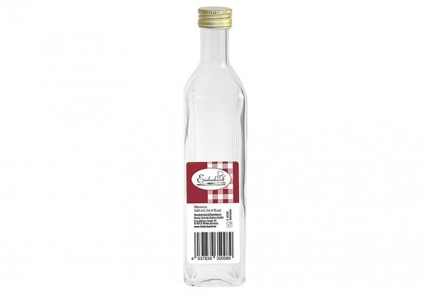"""Flasche Marasca """"Einkochwelt"""" 500 ml mit 31,5mm PP-Verschluss"""
