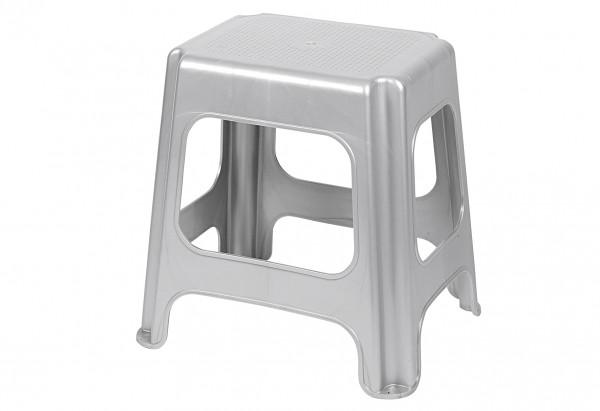 Maxi Tritt-Sitzhocker silver