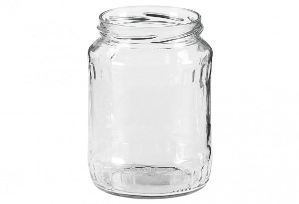 Schraubdeckelglas Facette 720 ml ohne Deckel 82mm TO