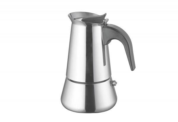 Espressokocher 4 Tassen Edelstahl