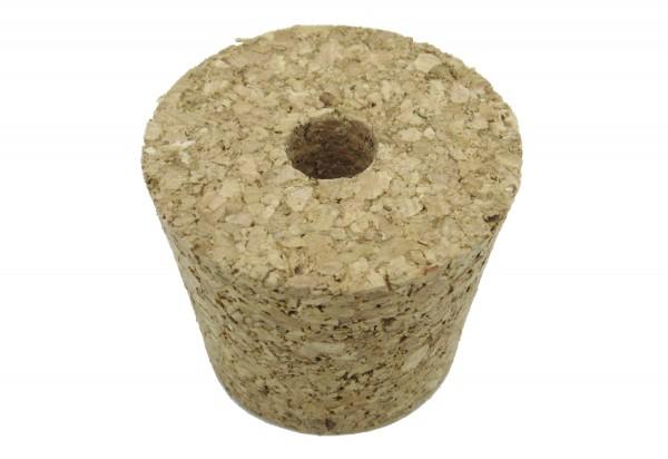 Korken mit Loch für 10 - 34 l Korbflaschen