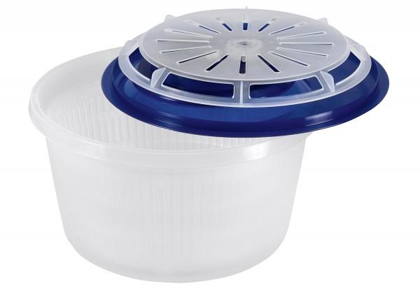 Salatschleuder Basic 4l transluzent blau/weiß