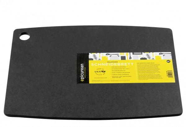 Schneidbrett mit Saftrille 44x33cm schwarz
